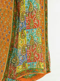 TOLANI Women Multi Pattern Color 3/4 Sleeve Top Tunic Blouse Shirt Size S