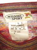 MISSONI SPORT Red Men Multi Color Iconic Pattern  Top Shirt Size L