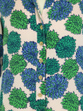TUCKER Women Pink Blue Green Floral Print Short Sleeve Top Shirt  Dress Tunic Size S
