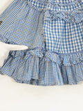 OILILY Girls Blue Ruffles Tiered Cotton Embroidered Butterfly Skirt 104