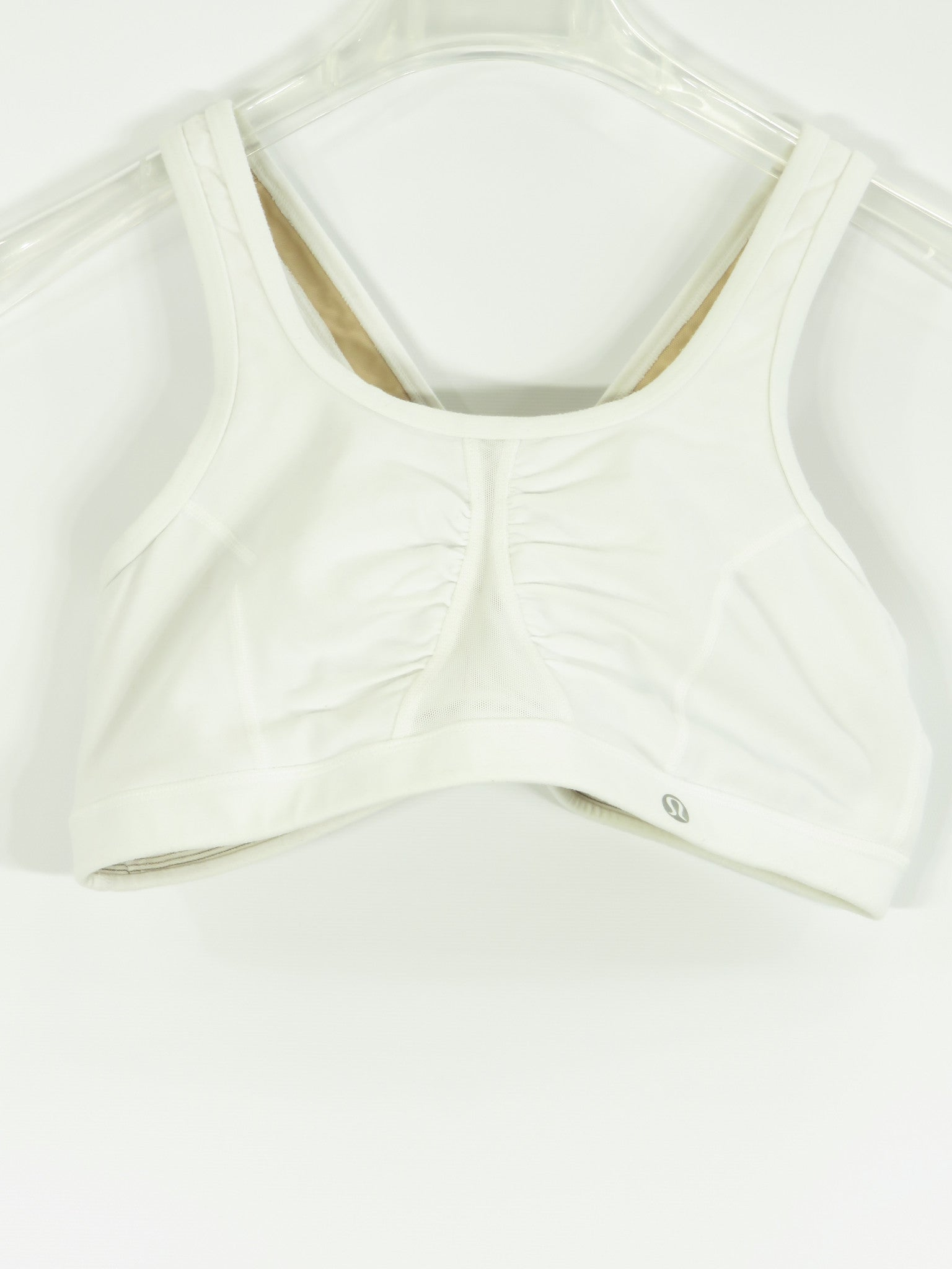 3caf48c473 LULULEMON ATHLETICA Women Off White Athletic Wear Criss Cross Back Spo