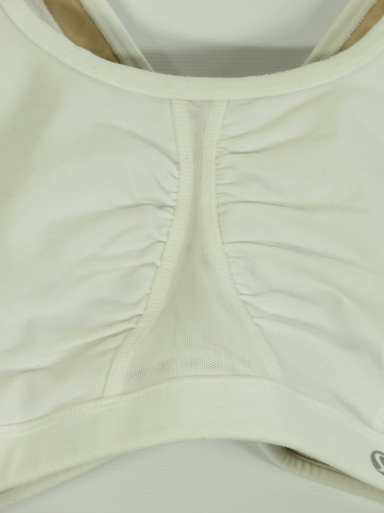 01a23fd699 ... LULULEMON ATHLETICA Women Off White Athletic Wear Criss Cross Back  Sports Bra 10 ...