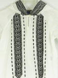 POLO RALPH LAUREN Girls White Black Embroidery Hooded Tunic Shirt Dress 6