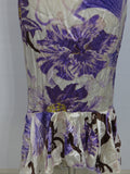 NEW! CAVALLI Women Off White Lavender Gold Orange Open Back Bustier Fit Dress 44