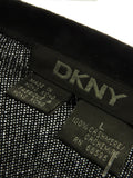 DKNY Men Black Cashmere Long Sleeve Knit Sweater Size L