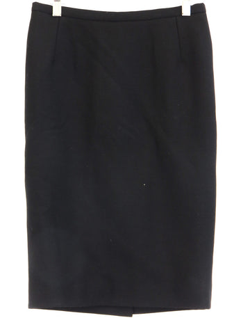 DOLCE & GABBANA Women Classic Black Pencil Skirt Back Slit Size M