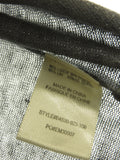 BELLA DAHL Women Gray Knit Sleeveless Racerback Tank Top Shirt Size S