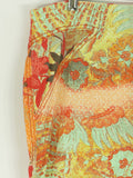 ROBERTO CAVALLI Women Orange Red Multi Color Floral Print Skirt Size 10