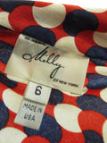 MILLY OF NEW YORK Women Blue Off-White Red Halter Sleeveless Blouse Size 6