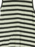 JOHN ESHAYA Women Black Gray Stripe Sleeveless Tank Top Shirt Size P/S