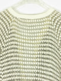 NIGHTCAP Women White Gray Knit Long 3/4 Sleeve Open Back Sweater Top 1