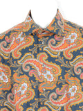 ETON Men Multi Color Paisley Long Sleeve Button Down Shirt Size 42 16.5