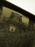 JUICY COUTURE Women Olive Green Red Motorcycle Cashmere Knit Sweater Top Size S