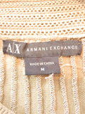 AX ARMANI EXCHANGE Women Beige Brown 3/ 4 Sleeve Knit Sweater Blouse Shirt Top M
