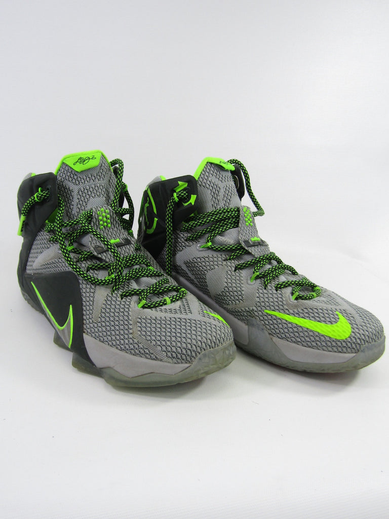 new arrival 38100 5432d ... france nike men lebron xii 12 dunk force wolf grey neon green sneakers  shoes size 8