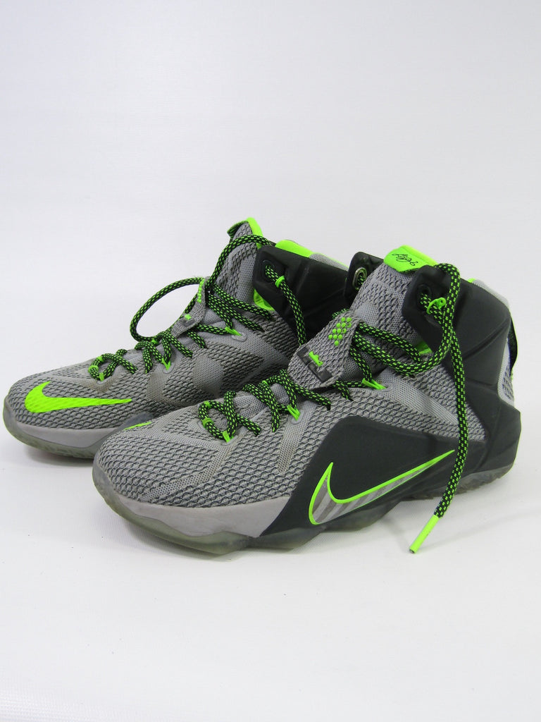 57f88c108b1d0 ... NIKE Men LeBron XII 12 Dunk Force Wolf Grey Neon Green Sneakers Shoes  Size 8 ...