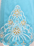 NEW! LILLY PULITZER Jacqueline Turquoise White Embroidery Sheath Dress 12