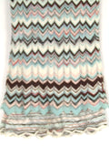 MISSONI Girls Knit Multi Color Iconic Chevron Print Short Sleeve Dress Size 4