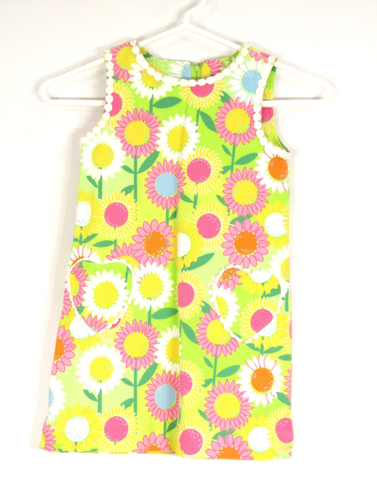 LILLY PULITZER Girls Multi Color Floral Print Sleeveless Summer Dress