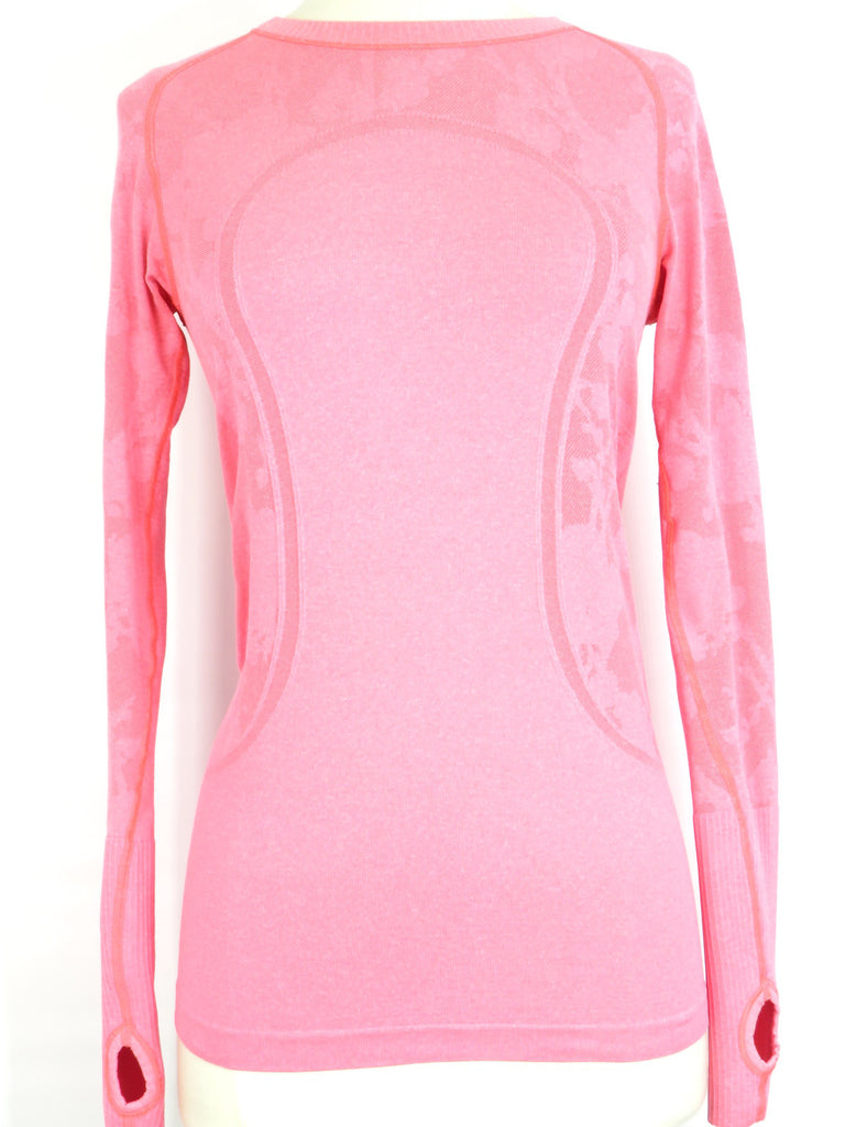 LULULEMON ATHLETICA Women Pink Peach Long Sleeve Sports Shirt Size 6