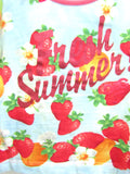 DOLCE & GABBANA Girls Multi Color Strawberry Print Top Shirt Size 4