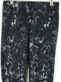 NEW! PEONY Women Black Grey White Leopard Animal Print Leggings Pants Size S