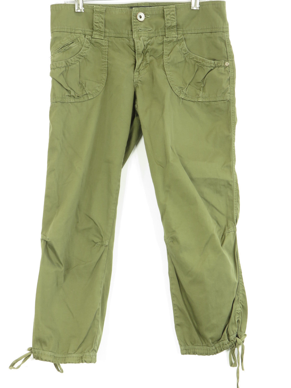 5fb65274b9c96 SANCTUARY CLOTHING Women Olive Green Cargo Cropped Pants Size 2