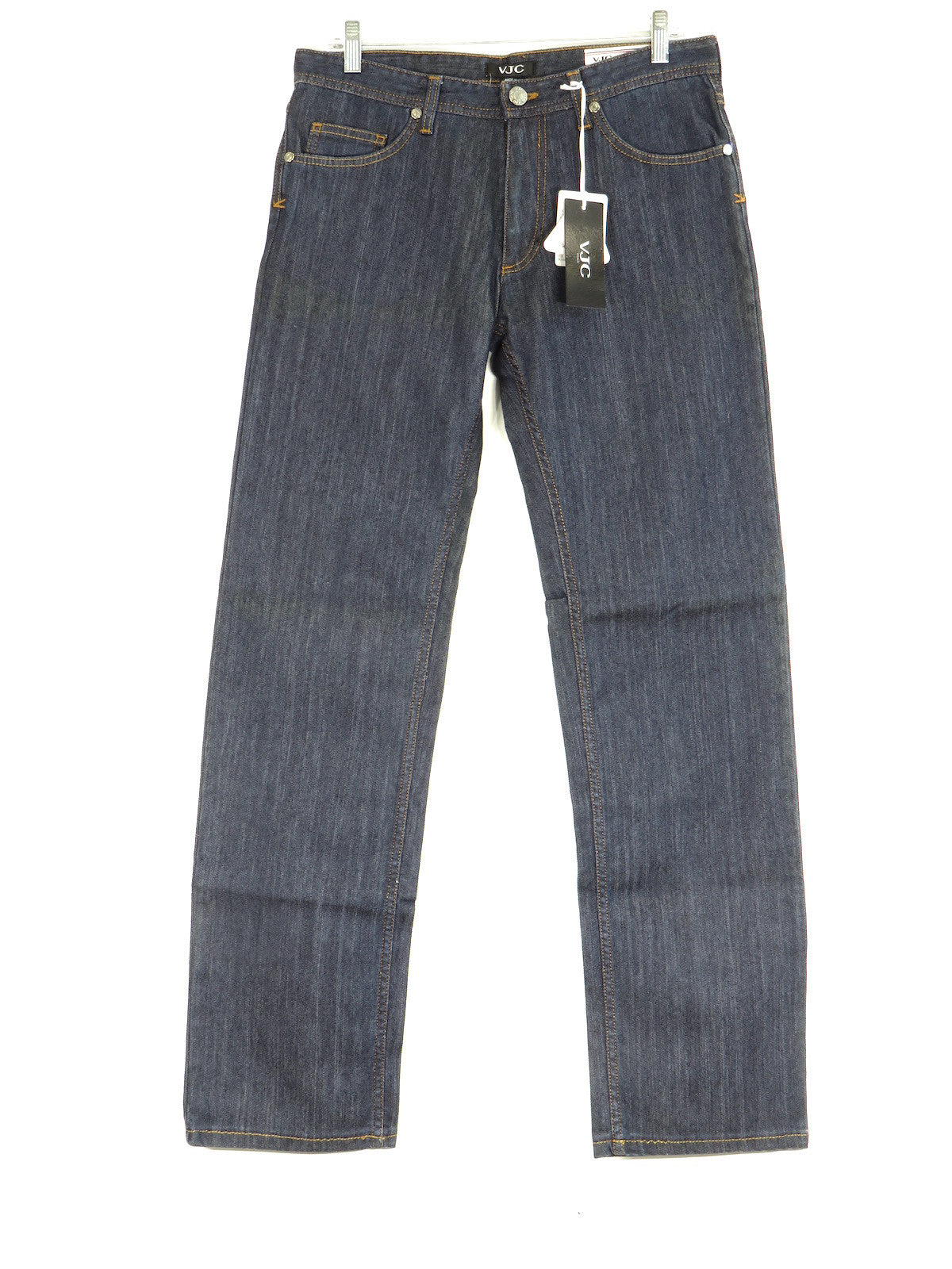 Versace Jeans Men/'s Dark Blue Regular Fit Straight Leg Jeans Size 33 34 36