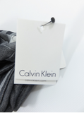 NEW! CALVIN KLEIN Unisex Infinity Loop Scarf Plaid Gray Black White Accesory