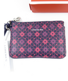 NEW! COACH Women Wrislet Pink Purple Wallet with Strap Fits Cellphone Rets 125$