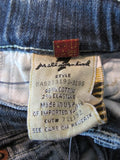 7 FOR ALL MANKIND Unisex Dark Wash Denim Jeans Bottom Pants Ragged Holes Size 4