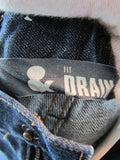 FIT & DRAIN Unisex Dark Wash Straight Leg Classic Bottom Pants Jeans Size 128 EU