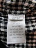 JOE'S Boys Blue Black Gray White Plaid Checks Button Down Shirt Top Size 4 5