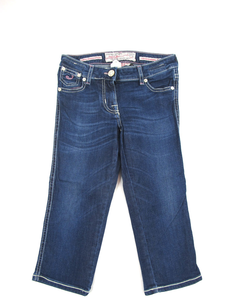 JACOB COHEN JUNIOR Girls Dark Wash Capri Cropped Bottom Pants Jeans Size 8