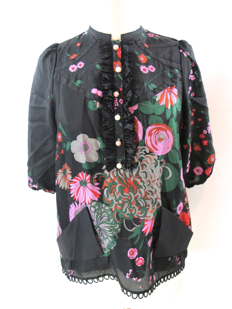 NEW! MEGHAN FABULOUS Women Top Shirt Blouse Buttons Boho Chic Multicolor 0 262$