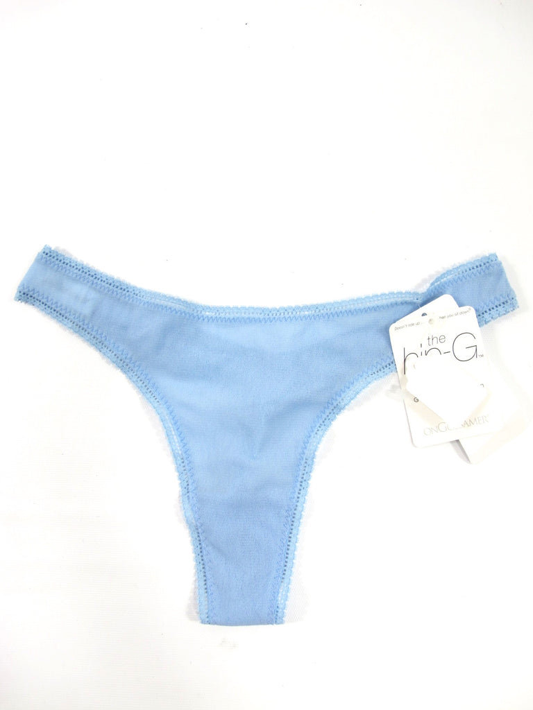 NEW! ONGOSSAMER Women Blue Low Rise G String Panties Underwear Size S/M $16