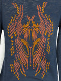 ZADIG & VOLTAIRE Women Blue Long Sleeve Back Print Button Shirt Top Size S