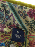 ROBERT GRAHAM Men Mustard Green Purple Blue Green Design Button Down Shirt Size M