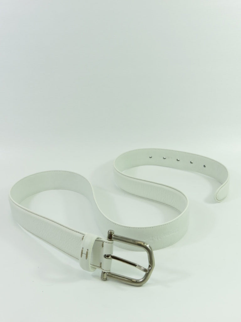 White Leather Belts for Men