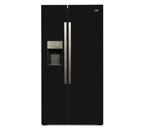 Beko ASP341B American Style Fridge Freezer in Black