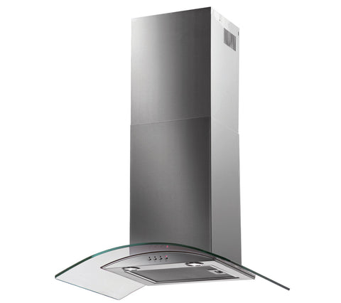 Baumatic - BT7.3GL - 70cm Chimney Hood, Curved Glass in Stainless Steel