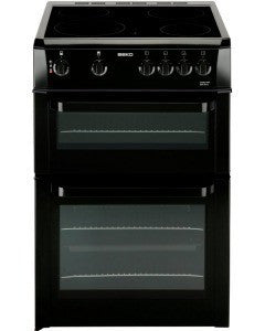 Beko BDVC663K 60cm Electric Cooker in Black  Oven Ceramic Hob Mirror