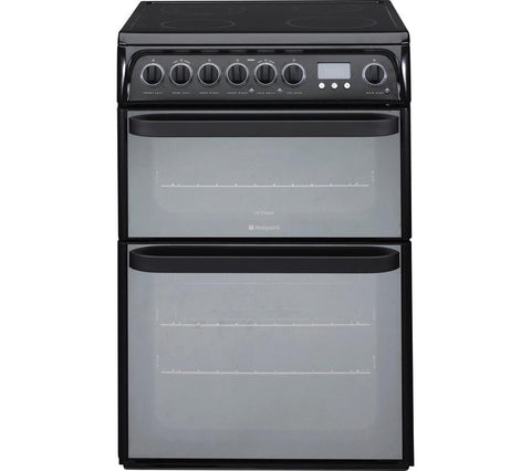 HOTPOINT Ultima DUE61BC Electric Ceramic Cooker - Black