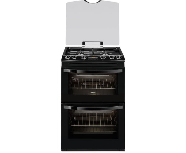 Fuel Induction Service >> Zanussi ZCG63200BA Black 60cm Double Oven Gas Cooker – Safeer Appliances Ltd