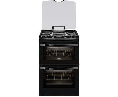 Zanussi ZCG63200BA Black 60cm Double Oven Gas Cooker