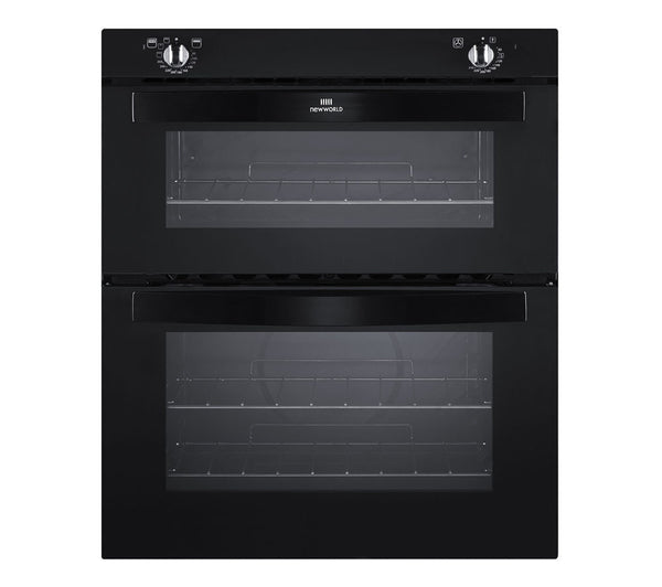 Fuel Induction Service >> NEW WORLD NW701DO Electric Built-under Double Oven - Black ...
