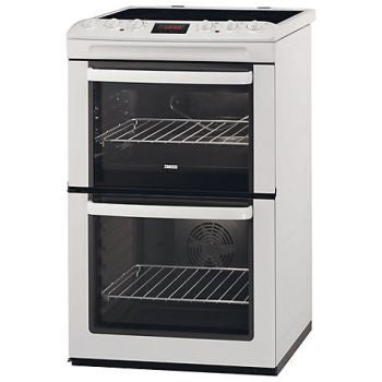 Zanussi ZCV552MWC Double Oven Cooker in White