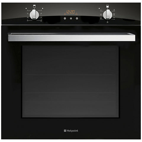 Hotpoint SCL08EB Signature Single Electric Oven, Black Glass