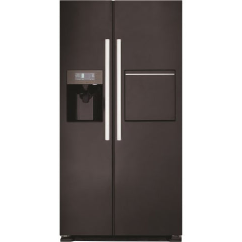 CDA PC70BL Black American Style American Fridge Freezer With Homebar