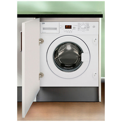 Beko WMI81341 Integrated Washing Machine, 8kg Load, A+ Energy Rating, 1300rpm Spin